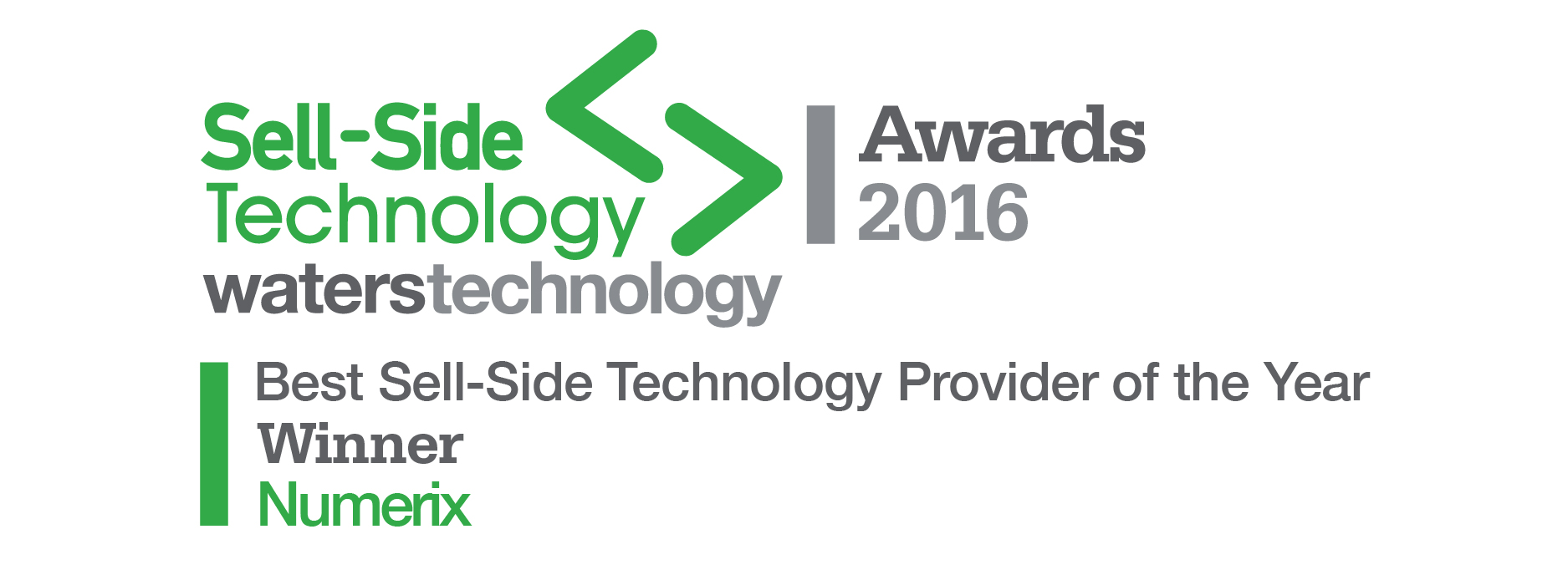 Numerix Named Best Sell Side Technology Provider of the Year in 2016 Waters Sell-Side Technology Awards